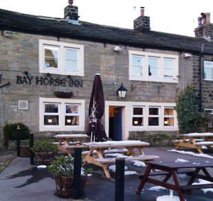 The Bay Horse, Oxenhope in winter