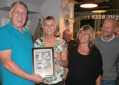 Pub of the Season Summer 2015 presentation at the Beer Engine, Skipton