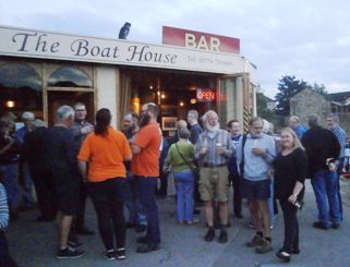 The canalside outside the Boat House provides a wonderful alfresco drinking venue.