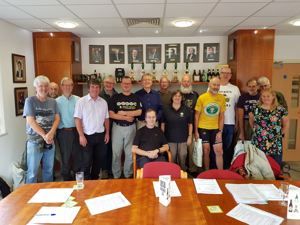 Members of Keighley and Craven CAMRA visit Timothy Taylor's brewery, August 2018