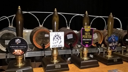 Some of the beers available at Woodfest