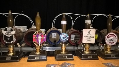 Some of the beers available in North Shields at WoodFest 2018